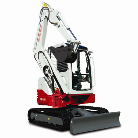 Takeuchi TB138FR reduced tail swing excavator
