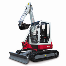 Takeuchi TB153FR reduced tail swing excavator