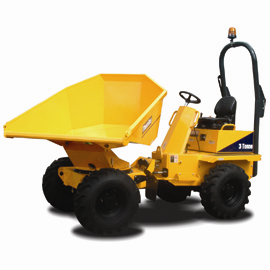 Thwaites Alldrive 3 tonne powerswivel manual dumper