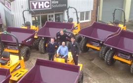 Thwaites dumpers for YHC in distinctive livery