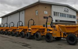 Thwaites dumpers for Harris & Harris Construction