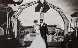 Takeuchis form a wedding arch