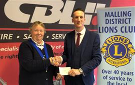 Cheque presentation to West Mallings Lions